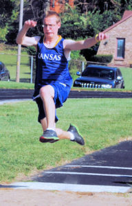 Flying through the air for Long Jump