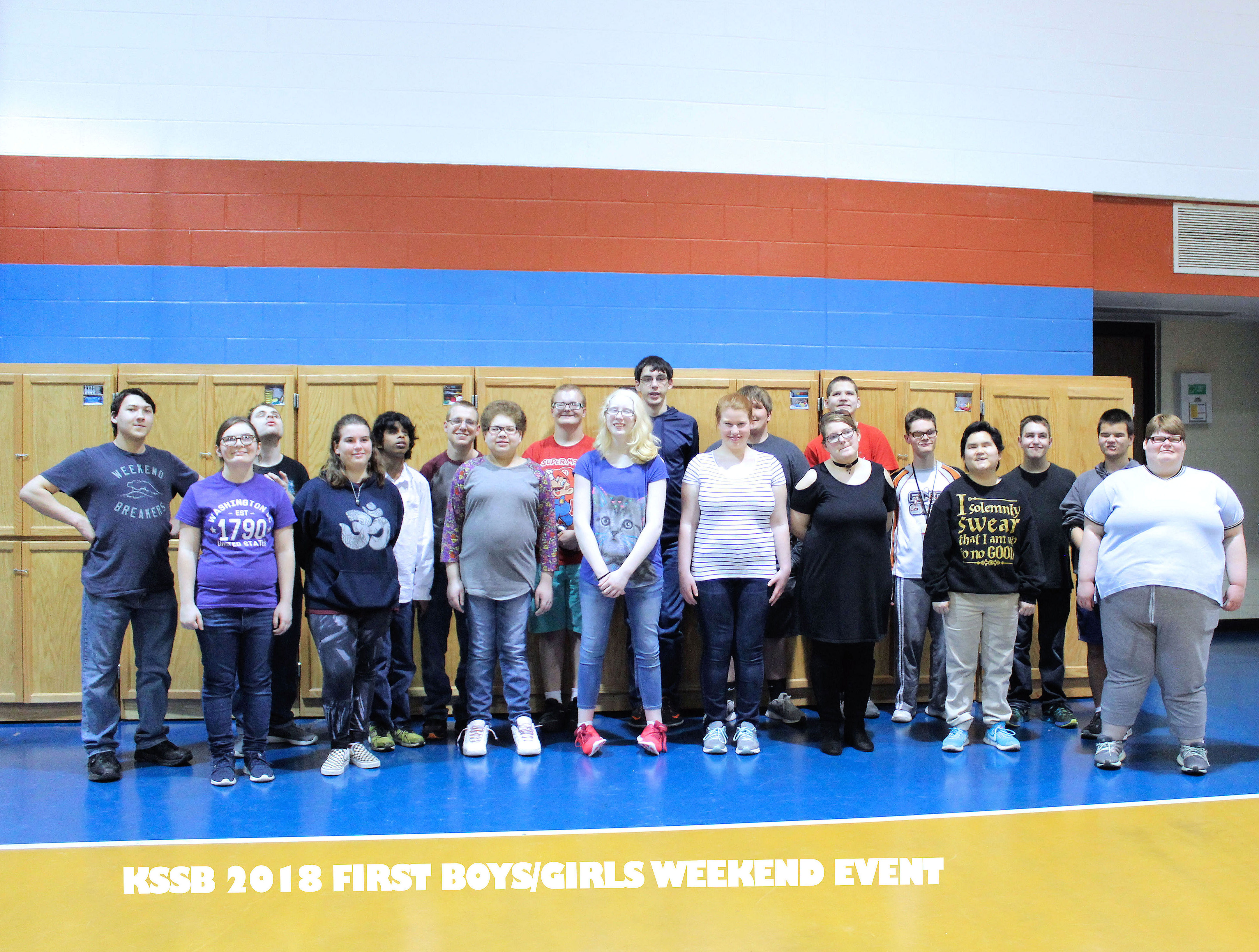 Group photo of 19 Boys and Girls Weekend at KSSB 2018 first annual Boys and Girls Event.