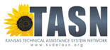 A Sunflower on the left with the letters TASN in blue. TASN stands for Technical Assistance Systems Network.