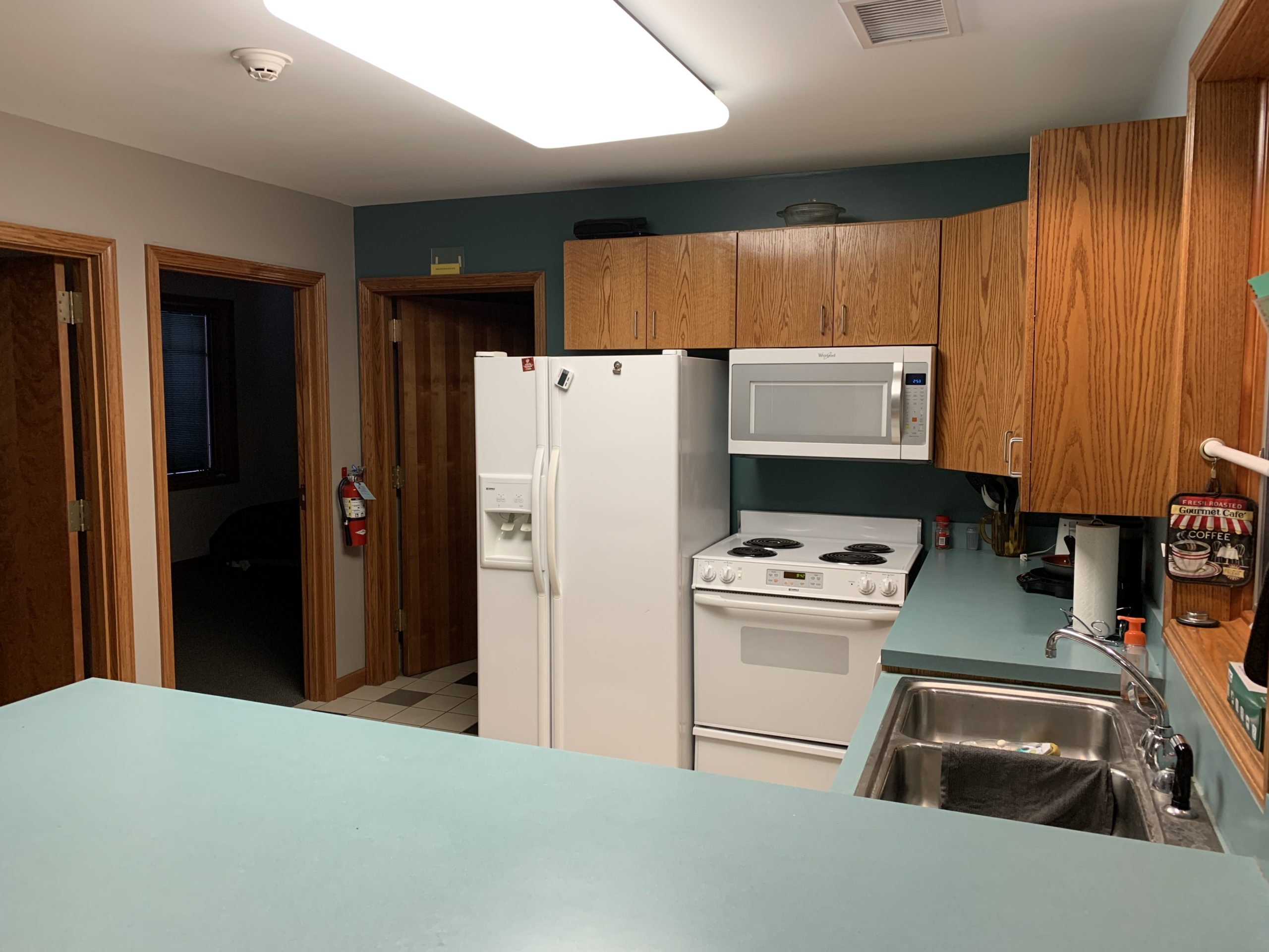 Cottage Fridge, Oven, Microwave, And Sink