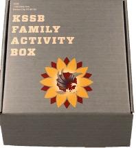 KSSB Family Activity Box with KSSB logo